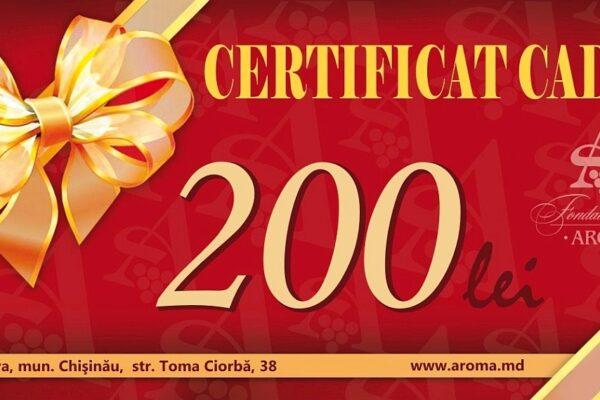 certificat 200 lei