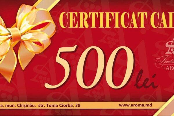 certificat 500 lei